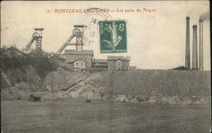 Montceau-les-Mines Puits Magny Bergbau x