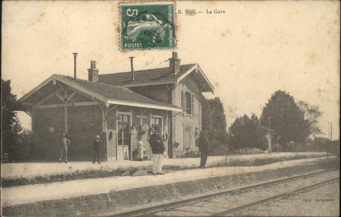 Herbisse Arcis-sur-Aube [Stempelabschlag] Gare Bahnhof x