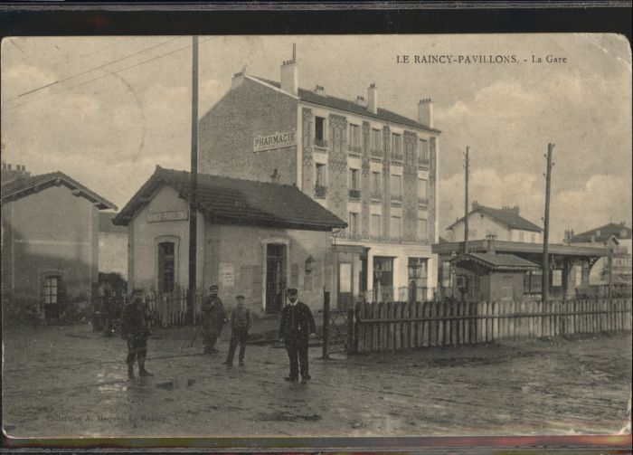 Le Raincy Pavillons Gare Bahnhof Pharmacie x