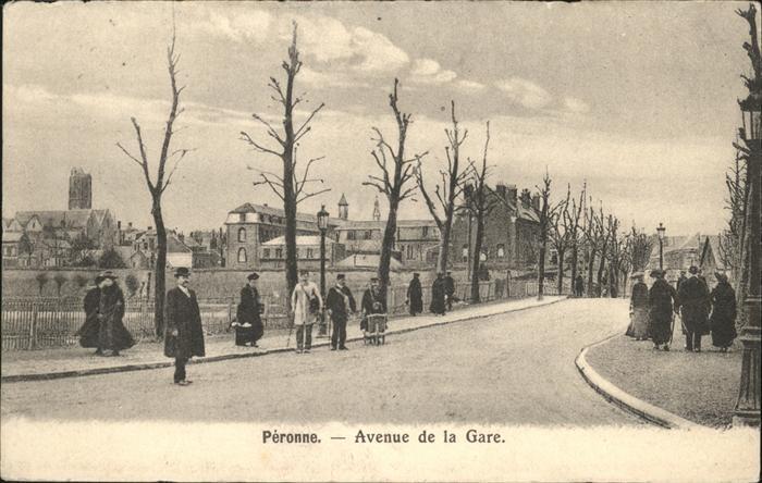 Peronne Somme Avenue de la Gare / Peronne /Arrond. de Peronne