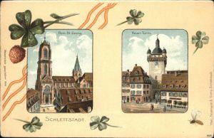 Schlettstadt Dom St. Georg Neuer Turm Kat. Selestat