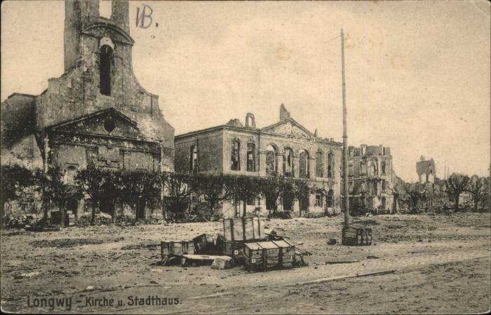 Longwy Lothringen Kirche Stadthaus / Longwy /Arrond. de Briey