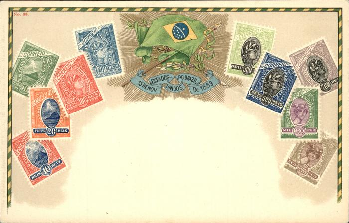 Brasilia Briefmarken, Wappen 1889
