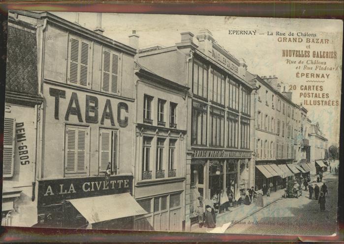 Epernay Rue de Chalons Tabac La Civette Kat. Epernay