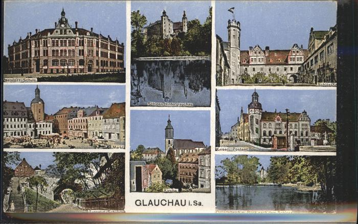 Glauchau Schloss Postamt  Kat. Glauchau
