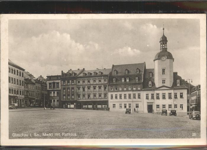 Glauchau Markt Rathaus Kat. Glauchau