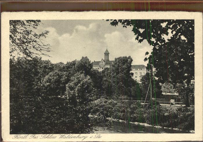 Waldenburg Sachsen Schloss Kat. Waldenburg Sachsen