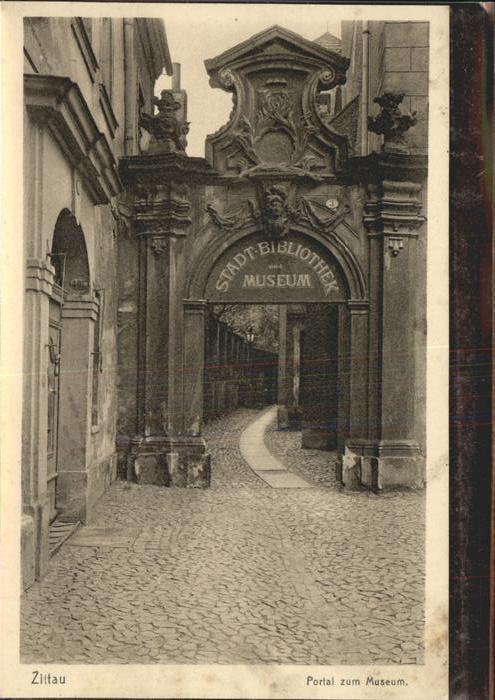 Zittau Portal am Museum Kat. Zittau