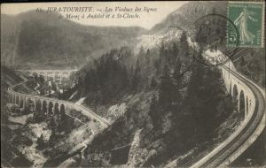 Morez Viaducs lignes de Morez a Andelot et a St. Claude chemin de fer Kat. Morez