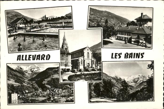 Allevard les Bains Isere Piscine Etablissement Thermal Eglise Le Gleyzin Kat. Allevard