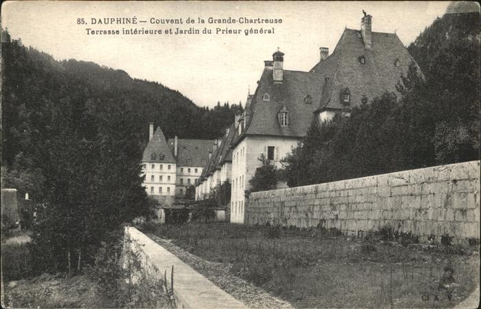 Grande Chartreuse Couvent de la Grande Chartreuse Terrasse interieure  Jardin du Prieur Kloster Kat. Saint Pierre de Chartreuse