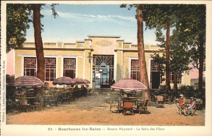 Bourbonne les Bains Haute Marne Source Maynard Salle des Fetes Kat. Bourbonne les Bains