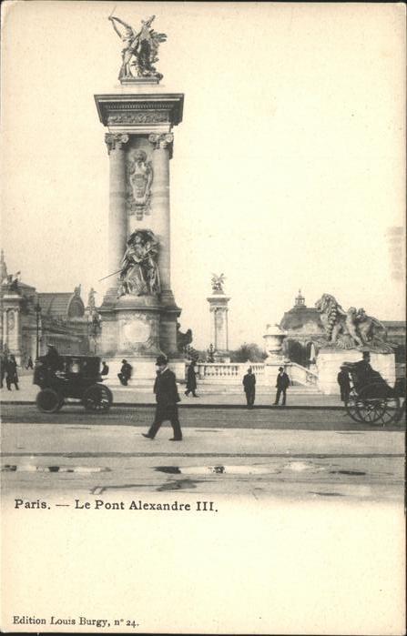 Paris Le Pont Alexandre III sculpture Kat. Paris