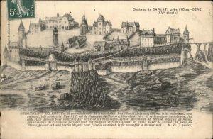 Carlat Chateau XV siecle Kat. Carlat