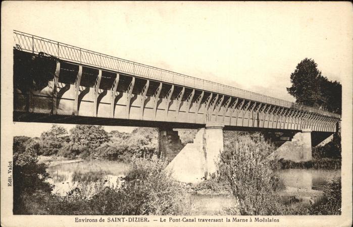 Saint Dizier Haute Marne Pont Canal traversant la Marne a Moeslains Kat. Saint Dizier