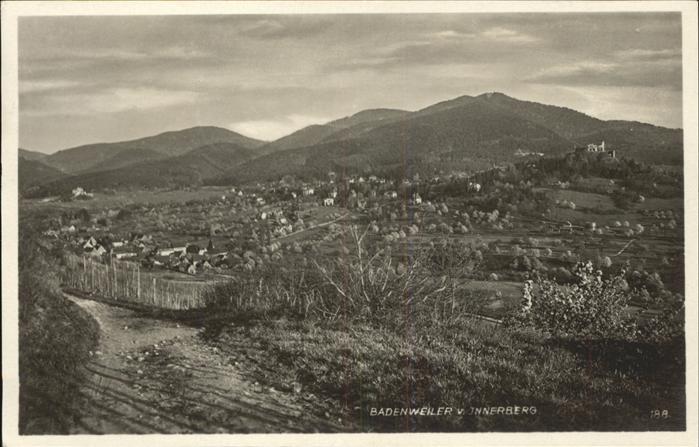Badenweiler Gesamtansicht Kat. Badenweiler