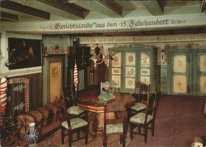 Grossholzleute Hotel Adler Gerichtslaube 15.Jhd. Kat. Isny im Allgaeu