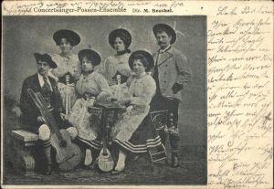 Musikanten Konzertsaenger Possen Ensemble M. Beuchel Gitarre  Kat. Musik