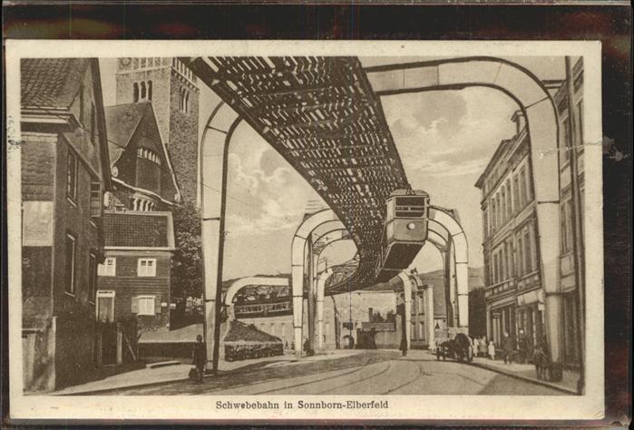 Schwebebahn Sonnborn Elberfeld Wuppertal Kat. Bahnen
