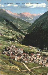 Airolo Gotthardbahn Blick nach Ambri Piotta Kat. Airolo