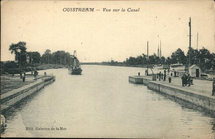 Ouistreham Vue sur le Canal Kat. Ouistreham