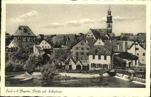 Lauf Pegnitz Partie mit Judenturm Kat. Lauf (Pegnitz)