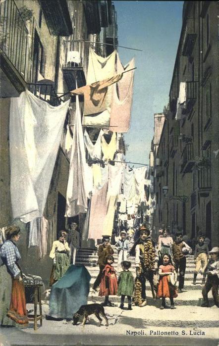Napoli Neapel Pallonetto Santa Lucia Kat. Napoli