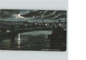 Aberdeen City View from Craiginches bridge in moonlight Kat. Aberdeen City