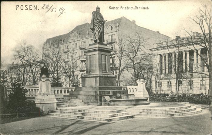 Posen Poznan Kaiser Friedrich Denkmal / Poznan /