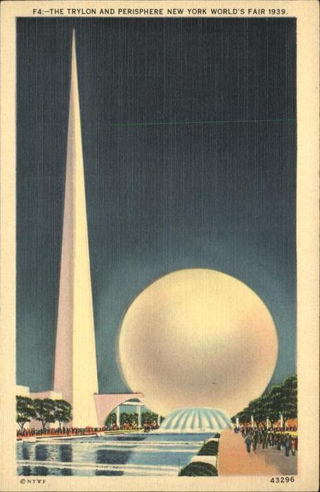 Exposition Worlds Fair New York 1939 Trylon and Perisphere  Kat. Expositions