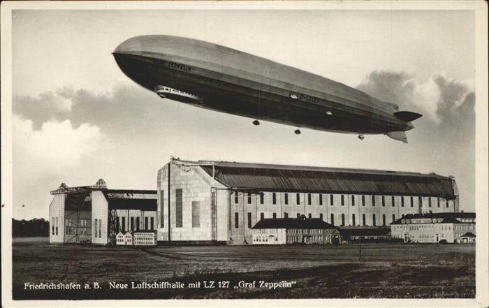 Zeppelin Friedrichshafen Luftschiffhalle Graf Zeppelin Kat. Flug