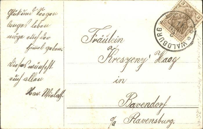 Neujahr Uhr Blumen Geschenk Brief Kat. Greetings Nr. wz96519 ...