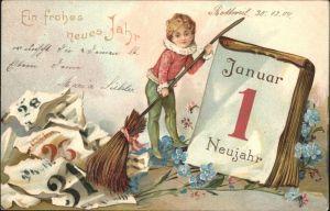 Datumskarte Neujahr Blumen  Kat. Besonderheiten