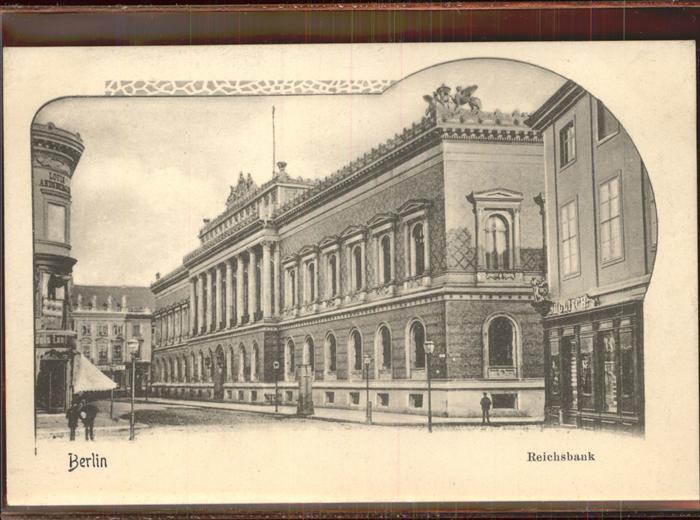 Berlin Reichsbank Kat. Berlin