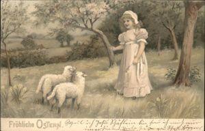Schafe Ostern Maedchen Meissner und Buch Verlag Kat. Tiere