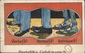Schuhe Verliebt verlobt verheiratet Glueckwunsch Kat. Mode