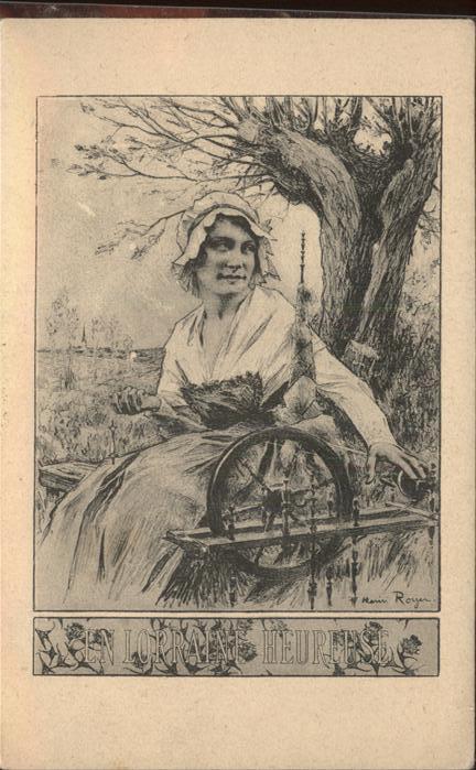 Spinnen Handwerk Spinnrad Werbung En Lorraine Heureuse J. Royer Kat. Handwerk