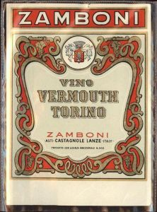 Wein Zamboni Vermouth Torino Kat. Lebensmittel