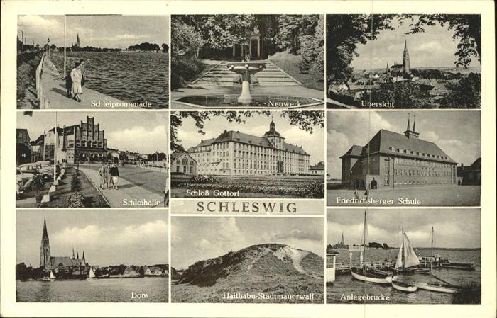 Schleswig Holstein Schloss Gottorf Schleihalle Dom Friedrichsberger Schule Promenade Neuwerk / Schleswig /Schleswig-Flensburg LKR