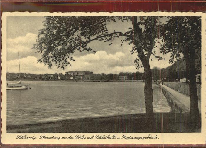 Schleswig Holstein Strandweg an der Schlei Schleihalle Regierungsgebaeuder / Schleswig /Schleswig-Flensburg LKR