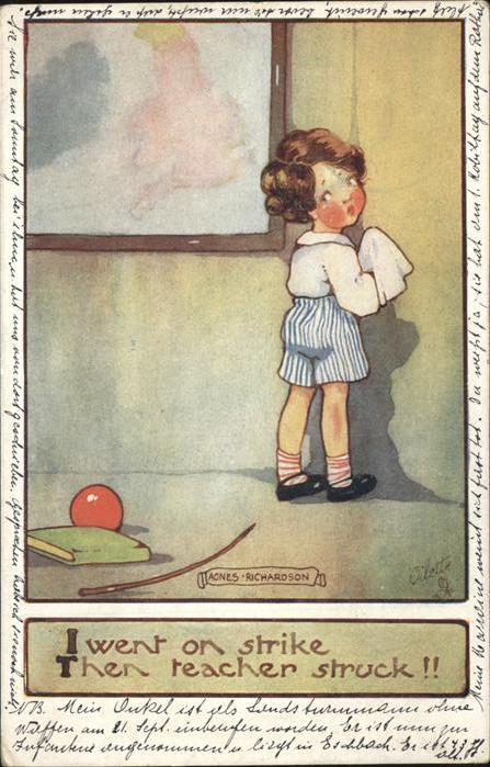 Richardson Agnes Nr. 8670 Verlag Tucks Kind Ball Buch  Kat. Kuenstlerkarte
