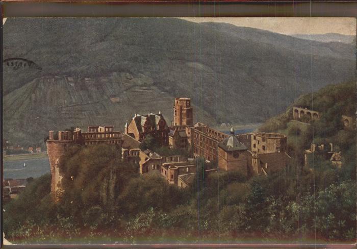 Hoffmann Heinrich Nr. 732 Heidelberg Schloss Molkenkur Kat. Kuenstlerkarte