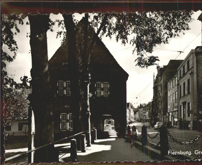 Flensburg Strasse Haus mit Torbogen Kat. Flensburg