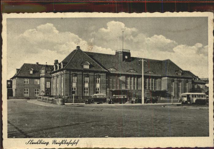 Flensburg Reichsbahnhof Busse Auto Kat. Flensburg