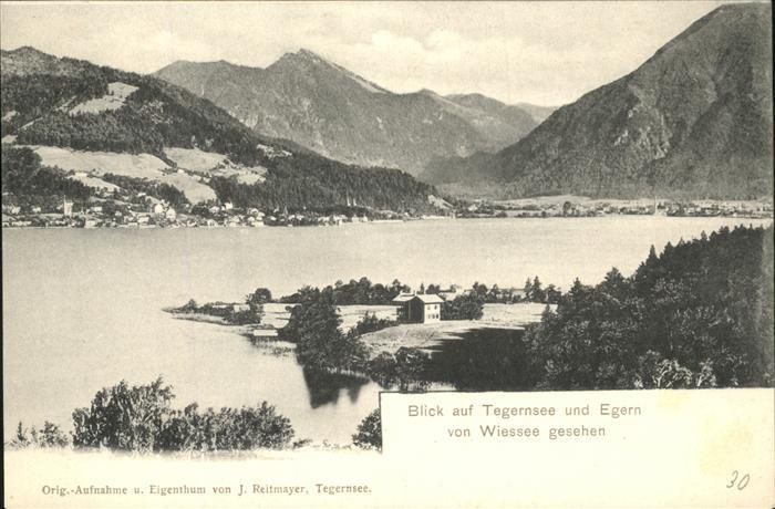 Bad Wiessee Blick auf Tegernsee und Egern Kat. Bad Wiessee
