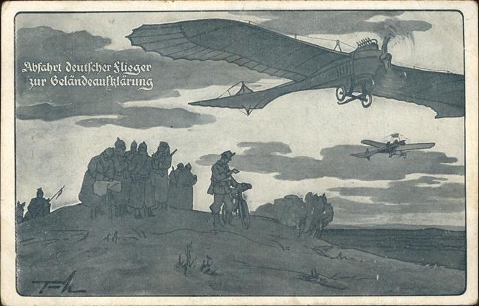 Segelflug Abfahrt deutscher Flieger  Kat. Flug