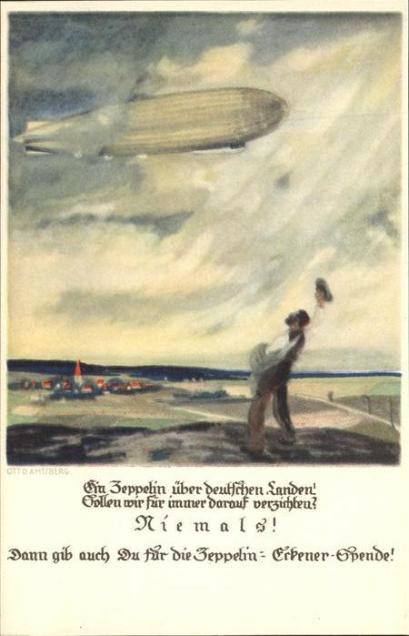 Zeppelin Zeppelin Erkener Spende Kat. Flug