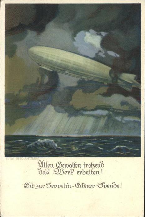 Zeppelin Zeppelin Eckener Spende Kat. Flug