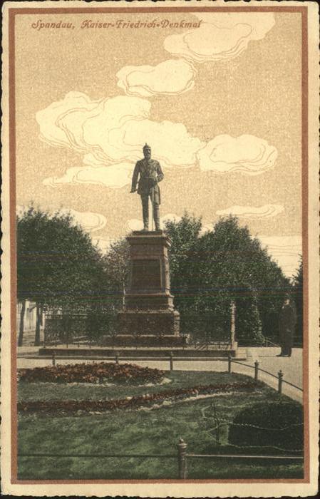 Denkmal Spandau Kaiser-Friedrich-Denkmal / Denkmaeler /