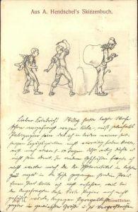 Verlag Hendschels Skizzenbuch Nr. 14 Kesselflicker Kat. Verlage